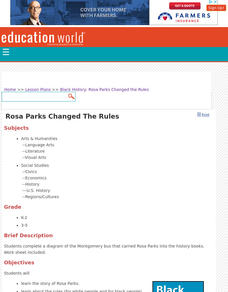 Rosa Parks Changed the Rules Lesson Plan