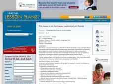 Hurricanes Science Lesson Plan Lesson Plan