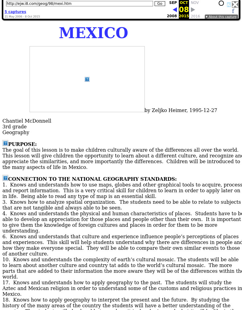 Mexico Lesson Plan