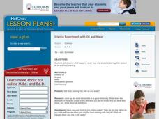 OIL AND WATER - Science Experiment Lesson Plan