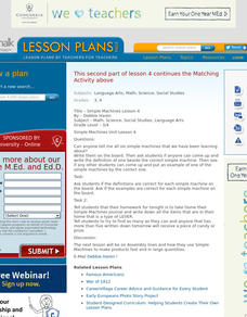 Simple Machines Lesson Lesson Plan