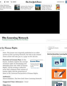 The Fight for Human Rights Lesson Plan