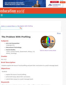 The Problem with Profiling Lesson Plan