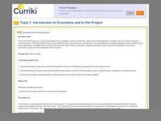 Algebra I Project:  Make Your Own Business Lesson Plan