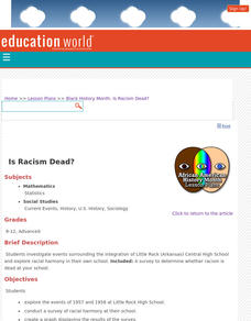 Is Racism Dead? Lesson Plan