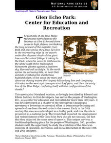 Glen Echo Park: Center for Education and Recreation Lesson Plan