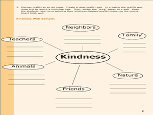 Kindness Graffiti Wall Lesson Plan