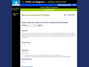 Why Does Congress Work That Way? Lesson Plan