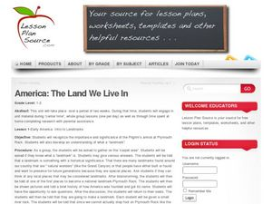 America: The Land We Live In: Landmarks Lesson Plan