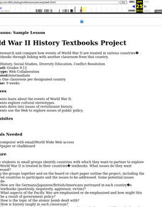 World War II History Textbooks Project Lesson Plan