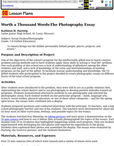 Worth a Thousand Words-The Photography Essay Lesson Plan