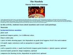 Tibetan Monk Sand Paintings Lesson Plan