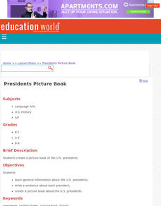 Presidents Picture Book Lesson Plan