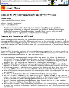 Writing to Photography/Photography to Writing Lesson Plan