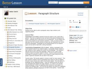 Paragraph Structure Lesson Plan