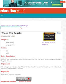 Those Who Fought Lesson Plan
