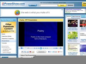 Poetry: The Most Compact Form of Literature Presentation