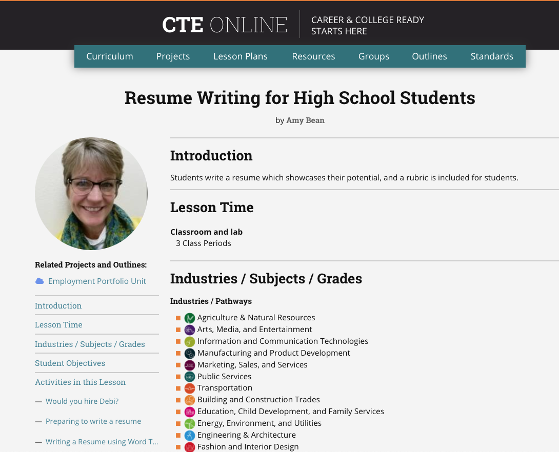 Resumes and Cover Letters for High School Students - ReadWriteThink