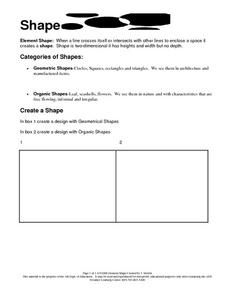 Shapes: Art or Geometry Worksheet