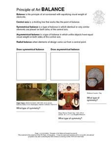 Principle of Art Balance Worksheet