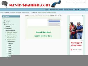 Spanish Question Words Lesson Plans & Worksheets | Lesson Planet