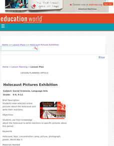 Holocaust Pictures Exhibition Lesson Plan