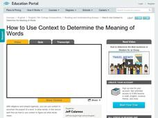 How to Use Context to Determine the Meaning of Words Video