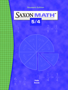 Saxon Math 5/4 eBook