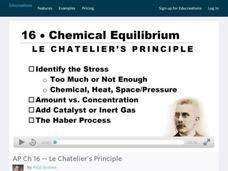 Le Chatelier's Principle Video
