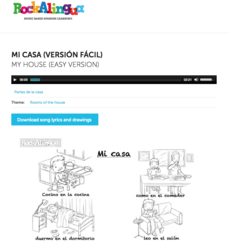 Mi Casa—Versión Fácil (My House—Easy Version) Audio