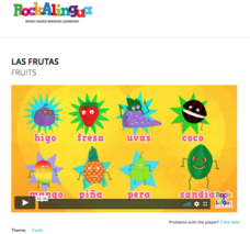 Las Frutas (Fruits) Video