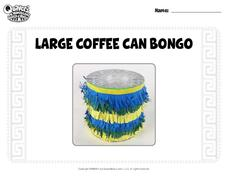 Large Coffee Can Bongo Activities & Project