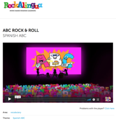 ABC Rock and Roll (Spanish ABC) Video