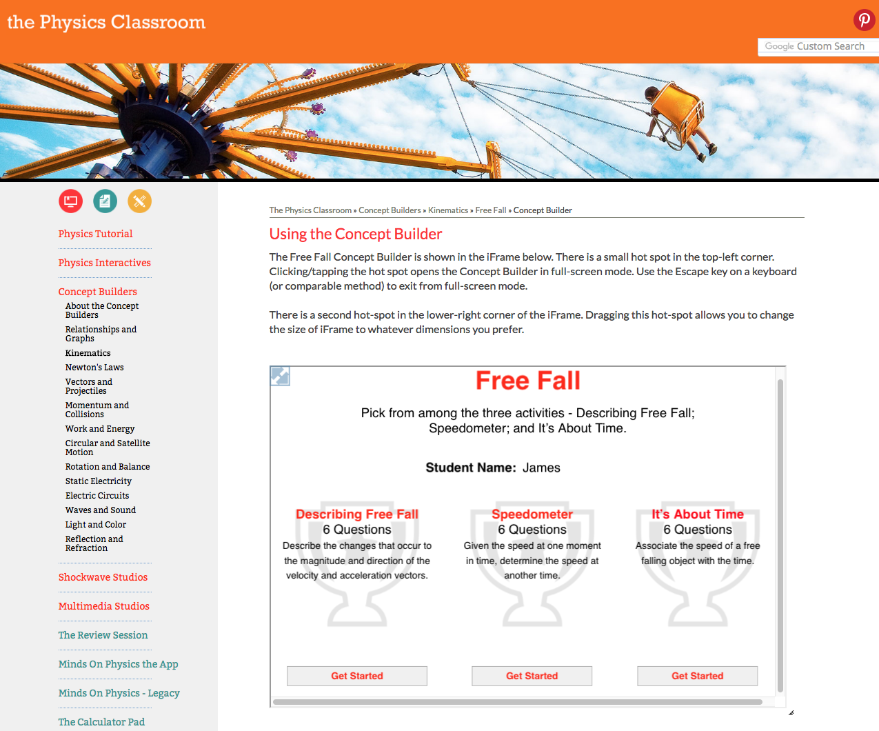 Free Fall Interactive
