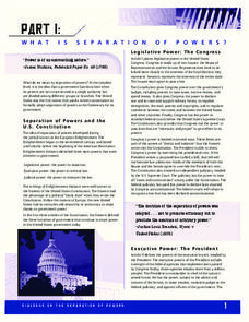 What Is Separation of Powers? Lesson Plan