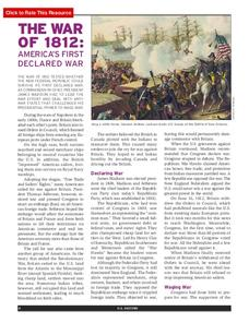 The War of 1812: America's First Declared War Activities & Project