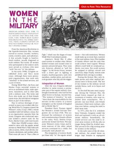 Women in the Military Activities & Project
