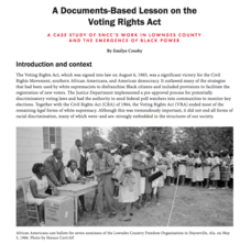 A Documents-Based Lesson on the Voting Rights Act Lesson Plan