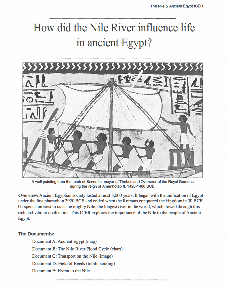 How Did the Nile River Influence Life in Ancient Egypt? Activities & Project