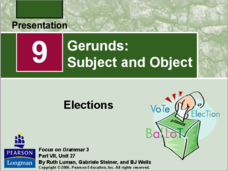 Gerunds: Subject and Object Presentation
