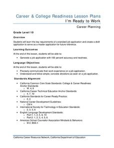 I'm Ready to Work Lesson Plan