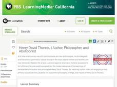 Henry David Thoreau: Author, Philosopher, and Abolitionist Lesson Plan