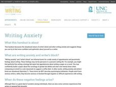 Writing Anxiety Website