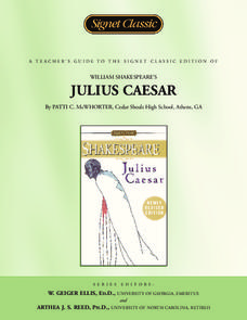 A Teacher's Guide to Julius Caesar Unit
