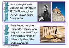 Florence Nightingale Fact Cards Graphics & Image