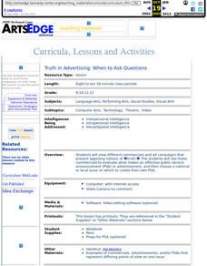 Truth in Advertising: When to Ask Questions Lesson Plan