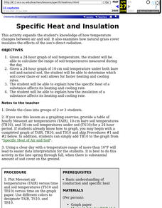 Specific Heat and Insulation - Temperature Changes Lesson Plan