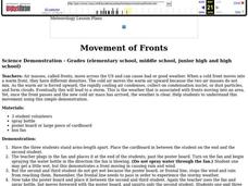 Movement of Fronts Lesson Plan