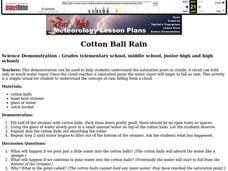 Cotton Ball Rain Lesson Plan
