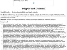 Supply and Demand - Weather Consumer Goods Lesson Plan